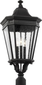 0-002130>Cotswold Lane 3-Light Post Lantern Black