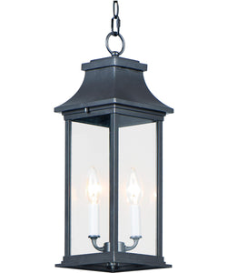 Vicksburg 2-Light Outdoor Hanging Lantern Black