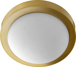 2-light Ceiling Flush Mount Aged Brass