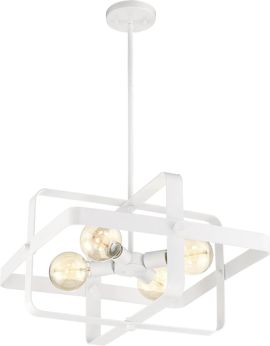 "20""W Prana 4-Light Pendant White"