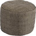View the Signature Design by Ashley Chevron Pouf Natural