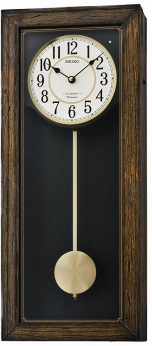 "10""H Musical Wall with 12 Hi Fi Melodies and Pendulum Clock"