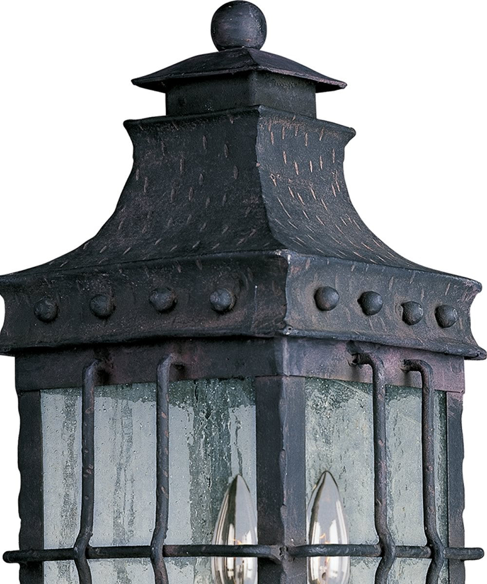 "23""H Nantucket 3-Light Outdoor Pole/Post Mount Country Forge"