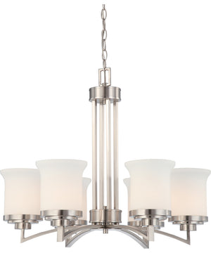 "26""W Harmony 6-Light Chandelier Brushed Nickel"