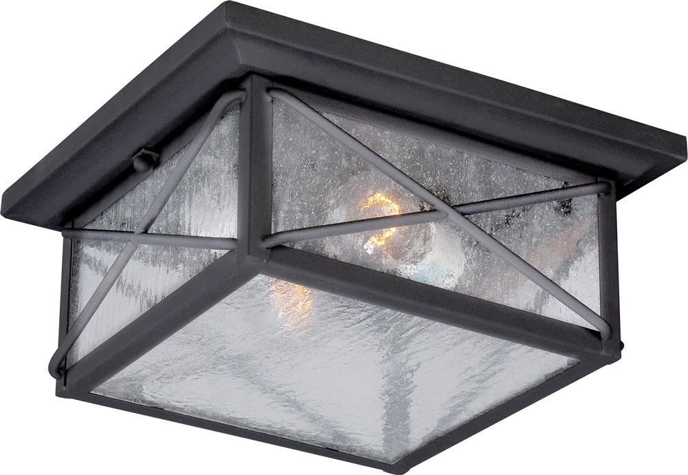 "11""W Wingate 2-Light Outdoor Textured Black"