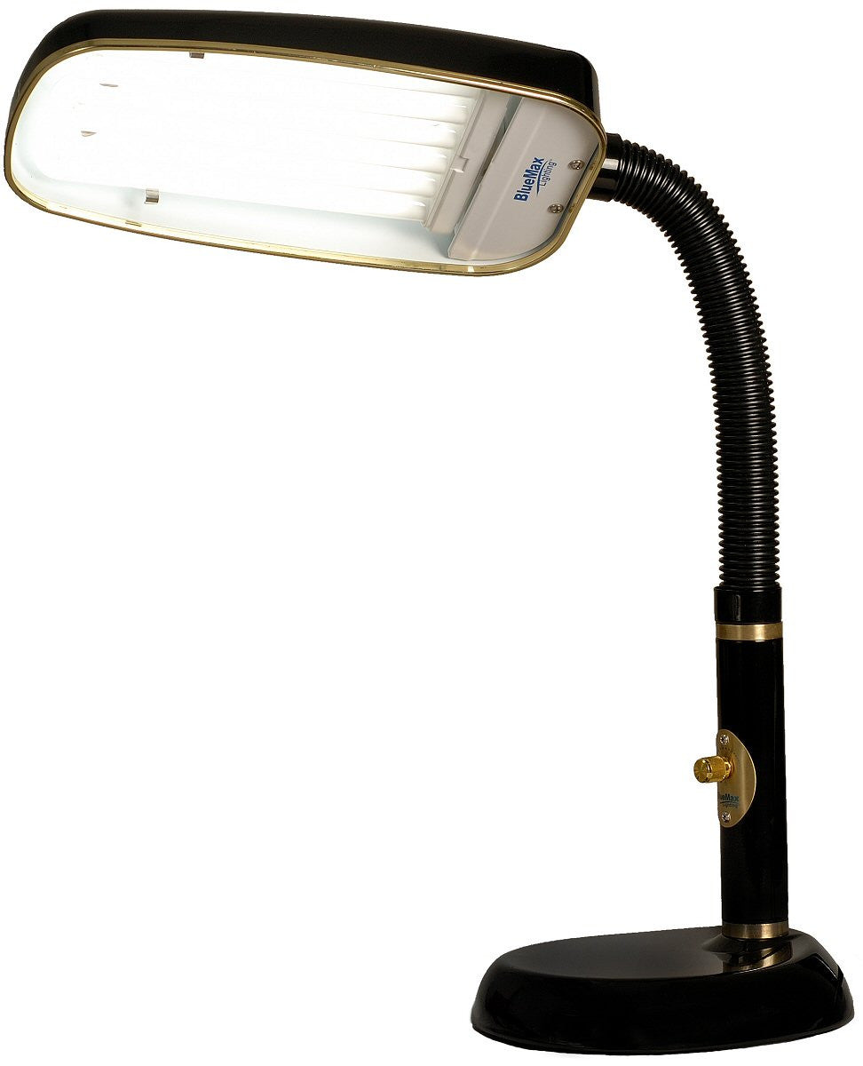"10""H BlueMax 1-Light Full Spectrum Desk Lamp Black"