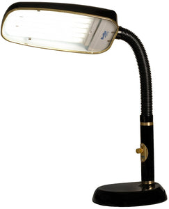 BlueMax 1-Light Full Spectrum Desk Lamp Black