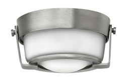 Hathaway 1-Light Flush Mount in Antique Nickel