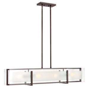 "42""W Latitude 4-Light Stem Hung Linear in Oil Rubbed Bronze"