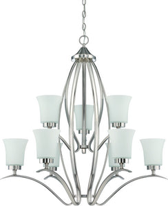 Northlake 9-Light Chandelier Satin Nickel