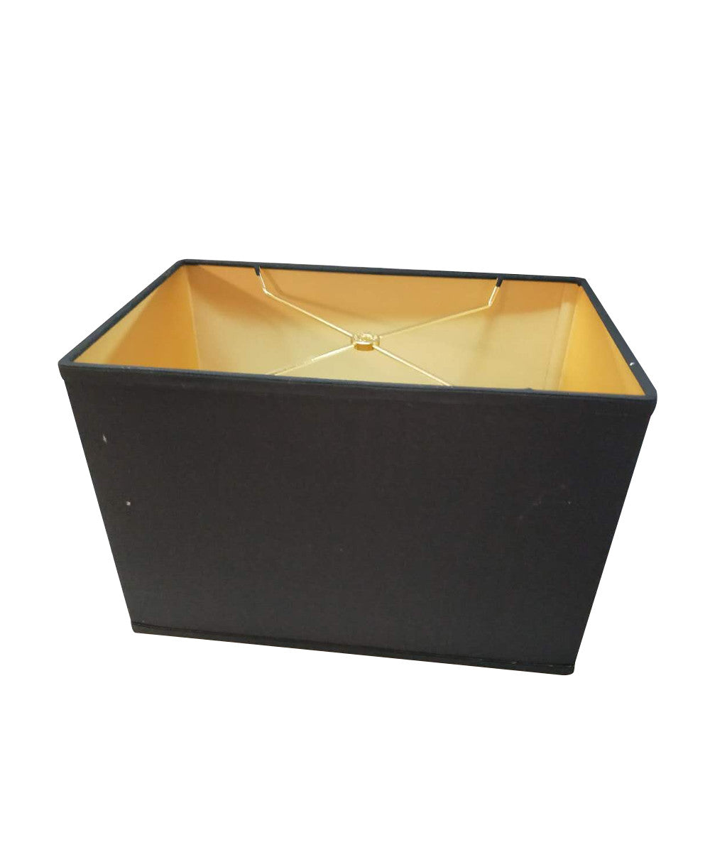 Black Rectangular Drum Hardback Lampshade (14x8) (14x8) x 10