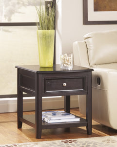 Carlyle Rectangular End Table Almost Black