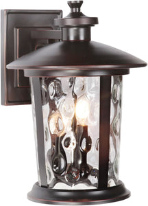 0-008935>Summerhays 3-Light Outdoor Wall Light Oiled Bronze Gilded