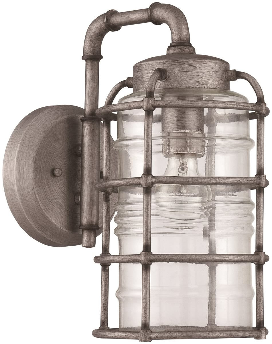 "14""H Hadley 1-Light Outdoor Wall Light Aged Galvanized"