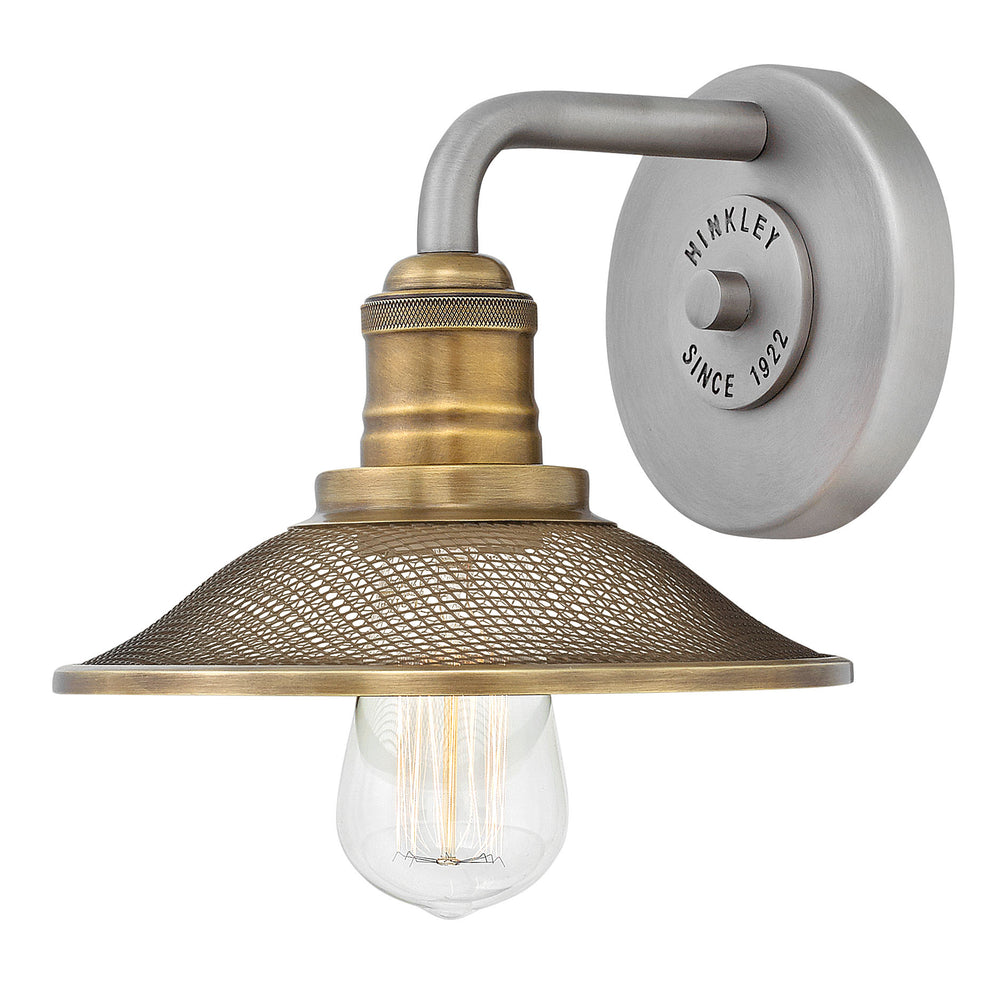 Rigby 1-Light Bath Sconce in Antique Nickel