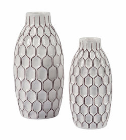 Dionna Vase Set (Set of 2) White