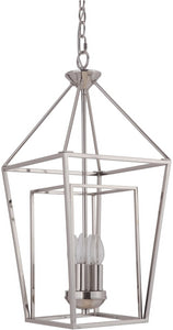 0-002955>Hudson 4-Light Foyer Light Polished Nickel