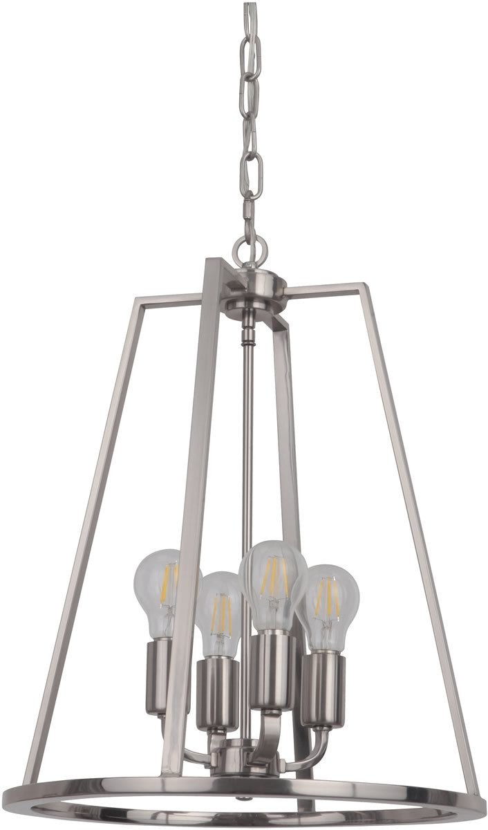"16""W Arc 4-Light Foyer Light Polished Nickel"