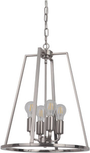 0-003000>Arc 4-Light Foyer Light Polished Nickel