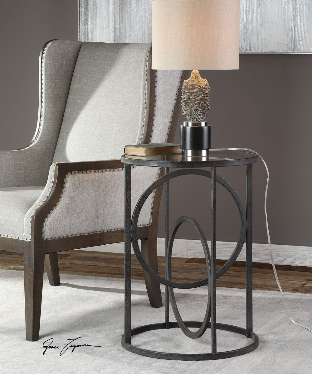 "25""H Lucien Iron Accent Table"