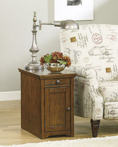 Laflorn Chair Side End Table Brown