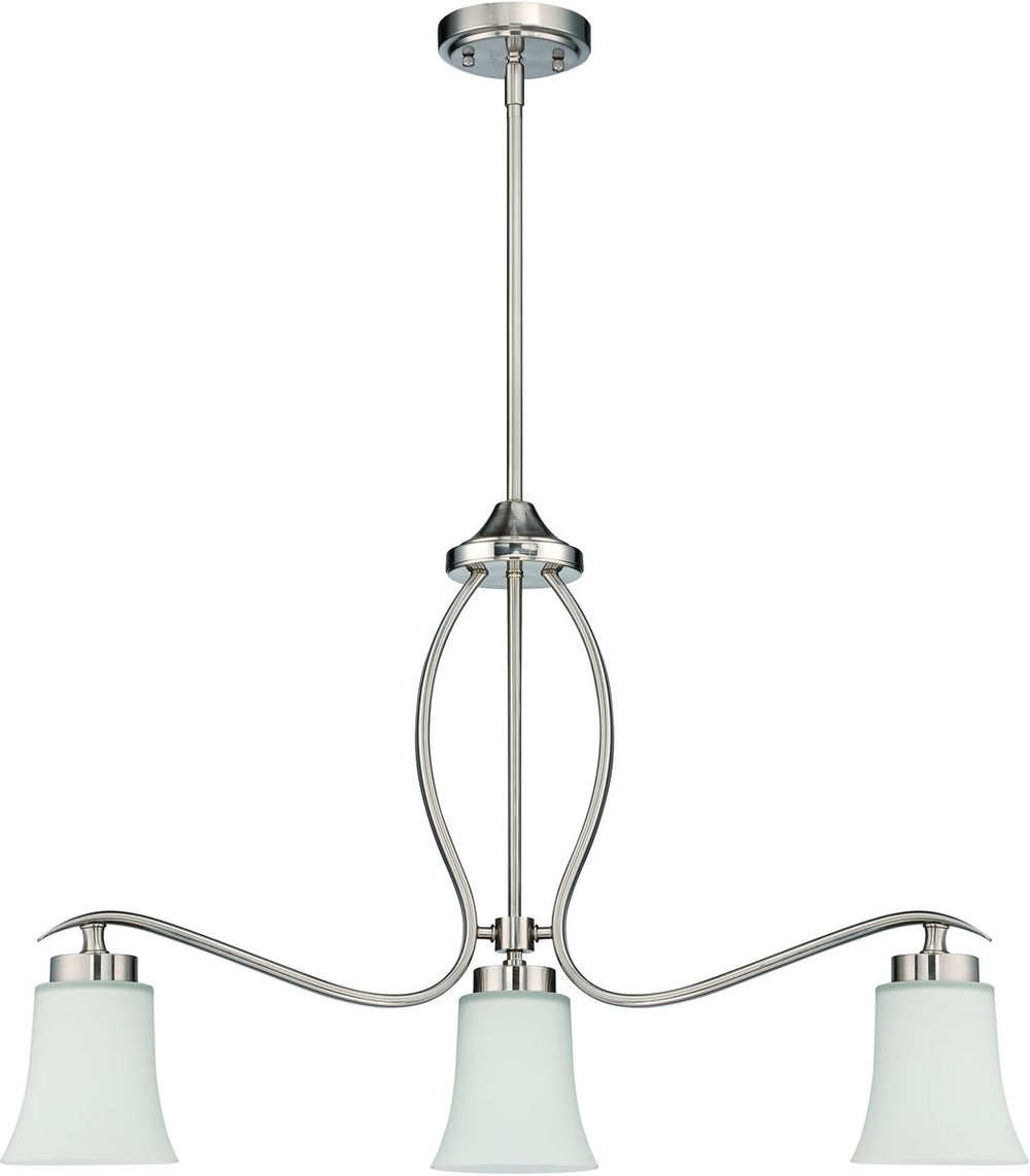 "30""W Northlake 3-Light Island Pendant Light Satin Nickel"