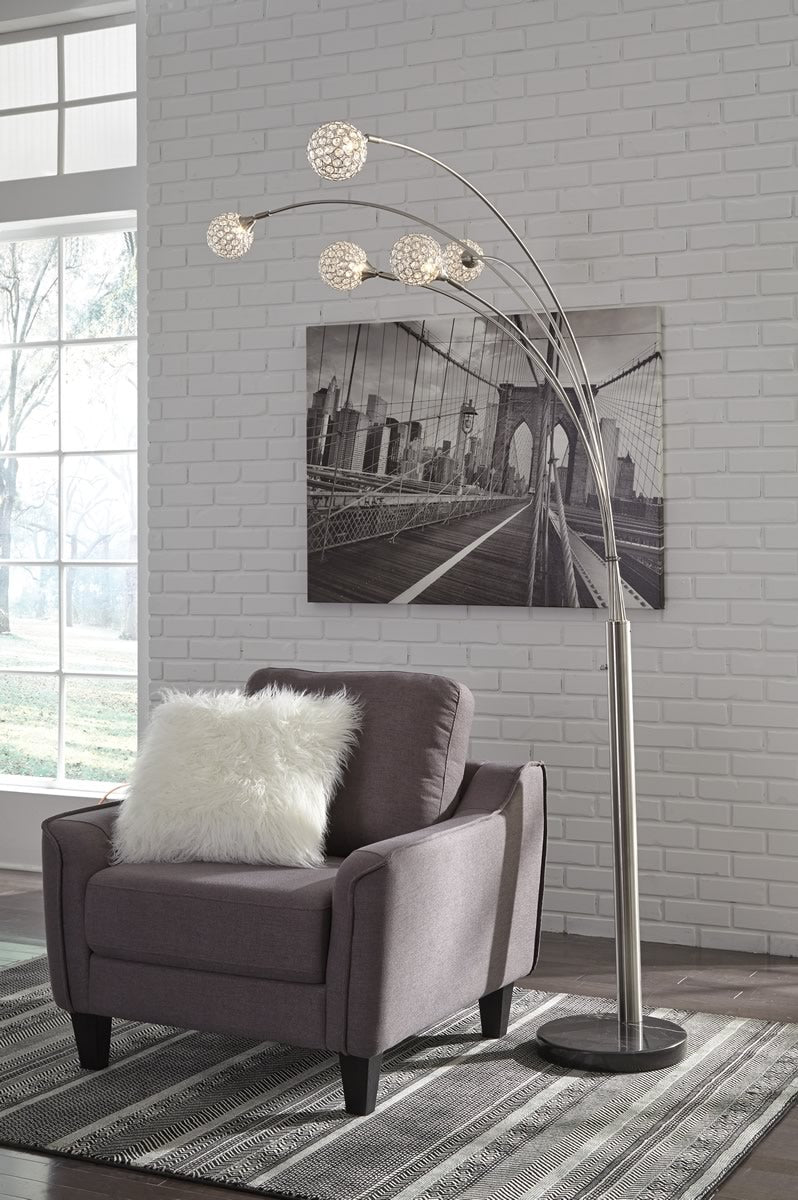 "95""H Winter Metal Arc Lamp (1/CN) Silver"