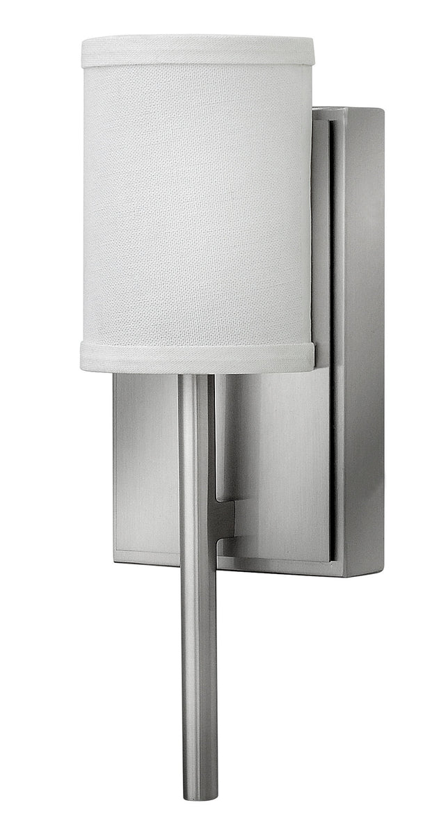 "5""W Avenue 1-Light Sconce in Brushed Nickel"