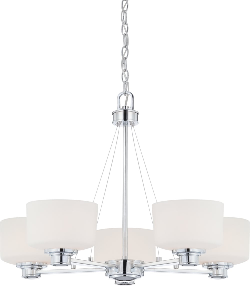 "28""W Soho 5-Light Chandelier Polished Chrome"