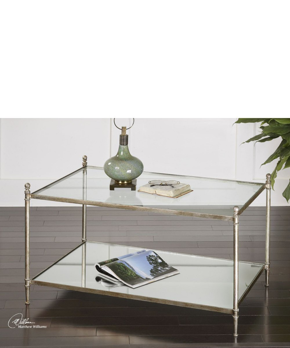 "22""H Gannon Mirrored Glass Coffee Table"