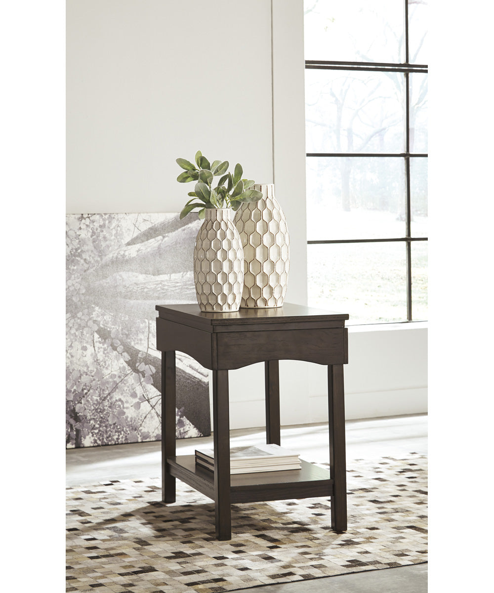 "25""H Haddigan Chair Side End Table Brown"