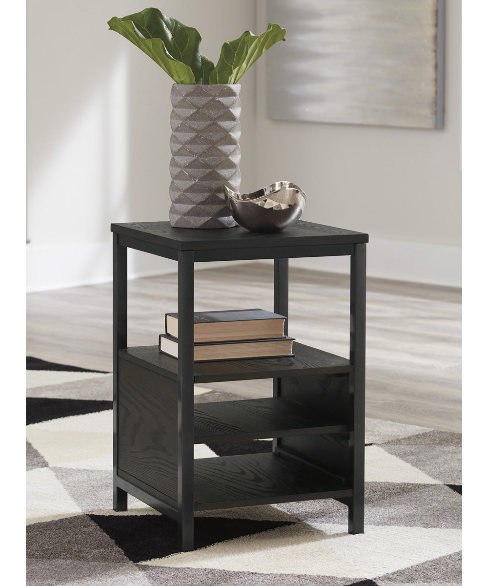 "25""H Airdon Chair Side End Table Bronze"