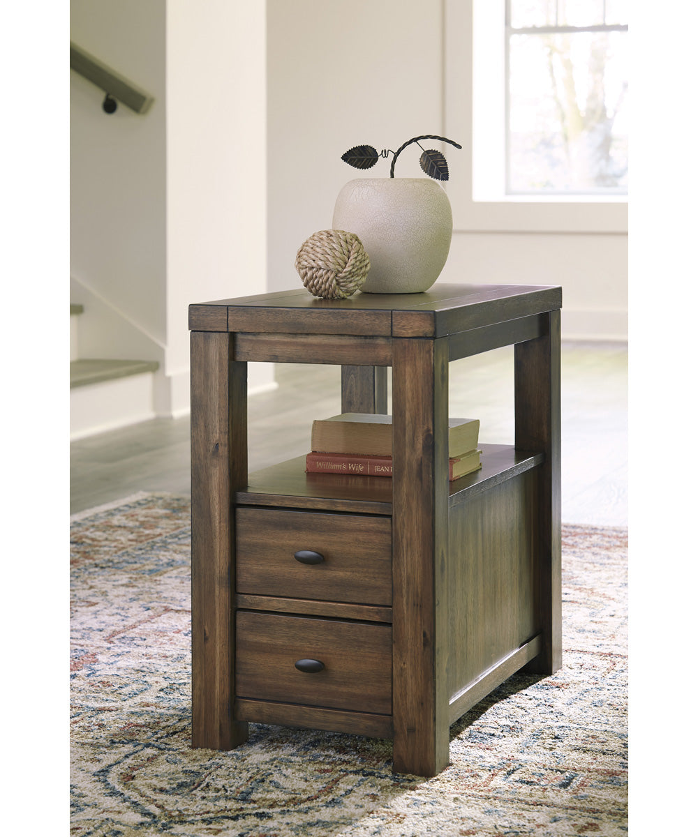 "24""H Marleza Chair Side End Table Brown"