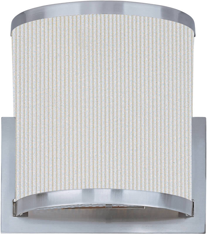 "10""W OPEN BOX  Elements 2-Light Fluorescent Wall Sconce Satin Nickel"