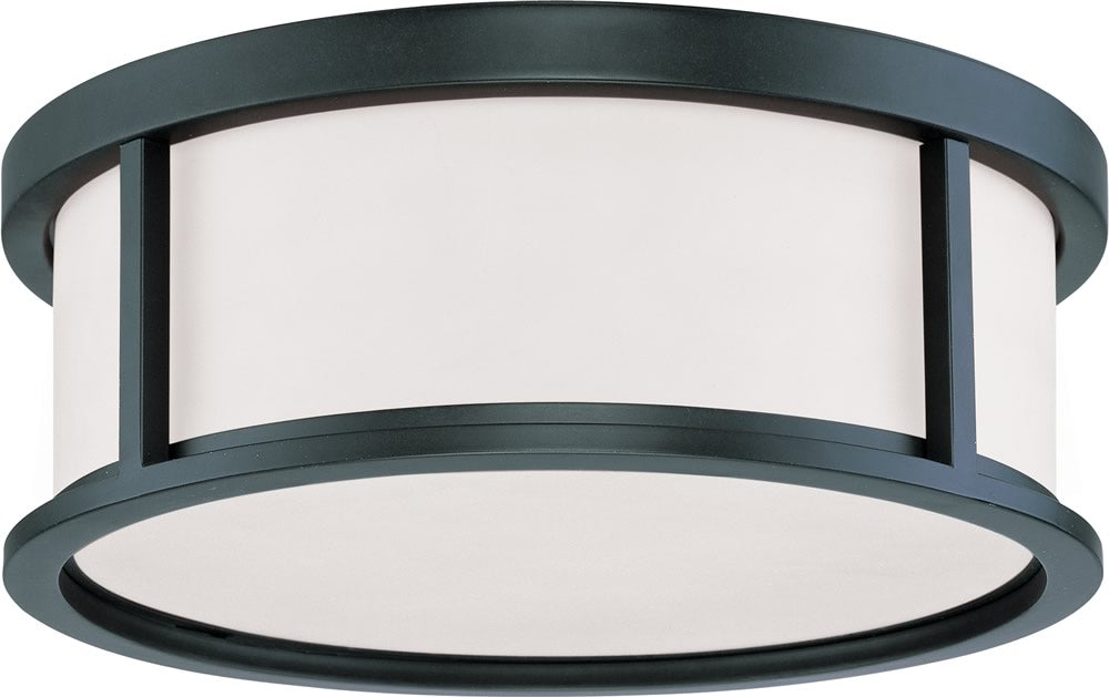 "15""W Odeon 3-Light Close-to-Ceiling Aged Bronze"