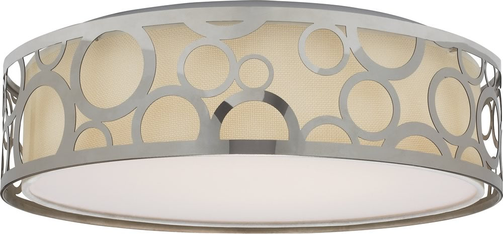 "15""W 1-Light Close-to-Ceiling Polished Nickel"