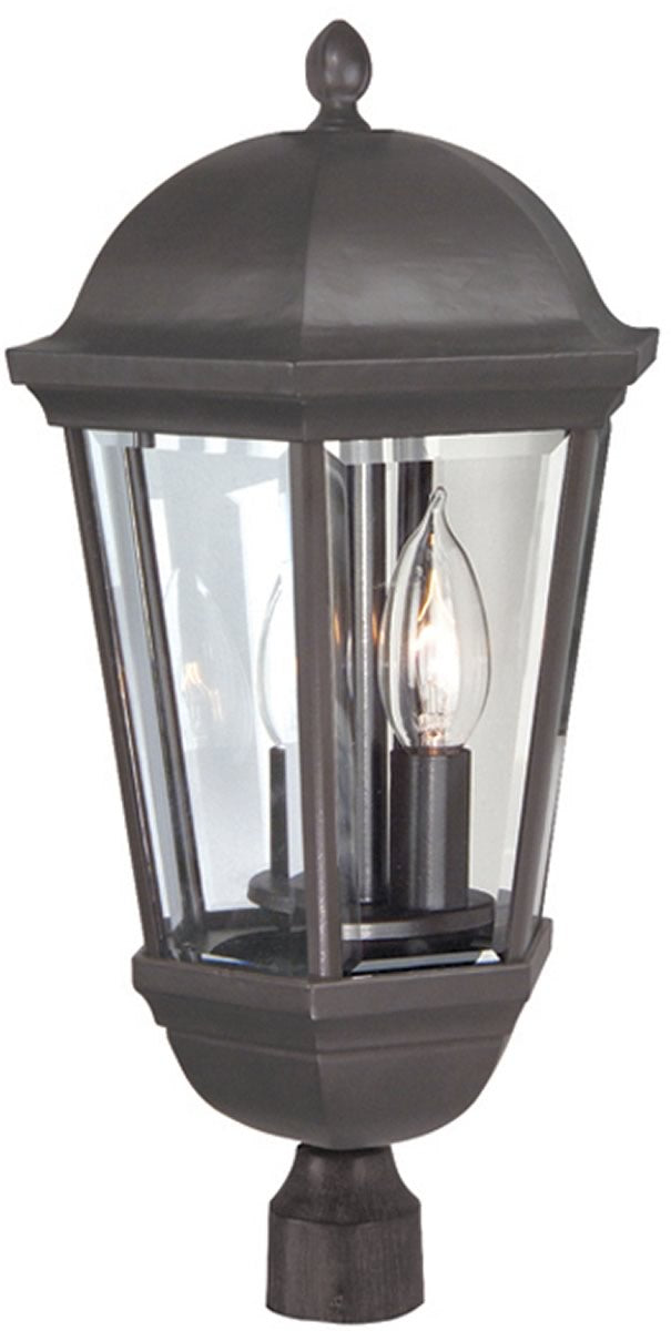 "20""H Britannia 3-Light Outdoor Post Oiled Bronze"