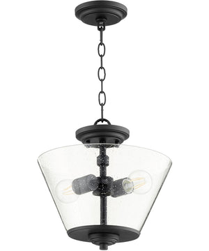 "13""W Dunbar 2-light Dual Mount Light Fixture Noir"