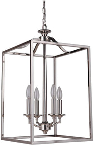 0-009195>Helena 4-Light Foyer Light Polished Nickel