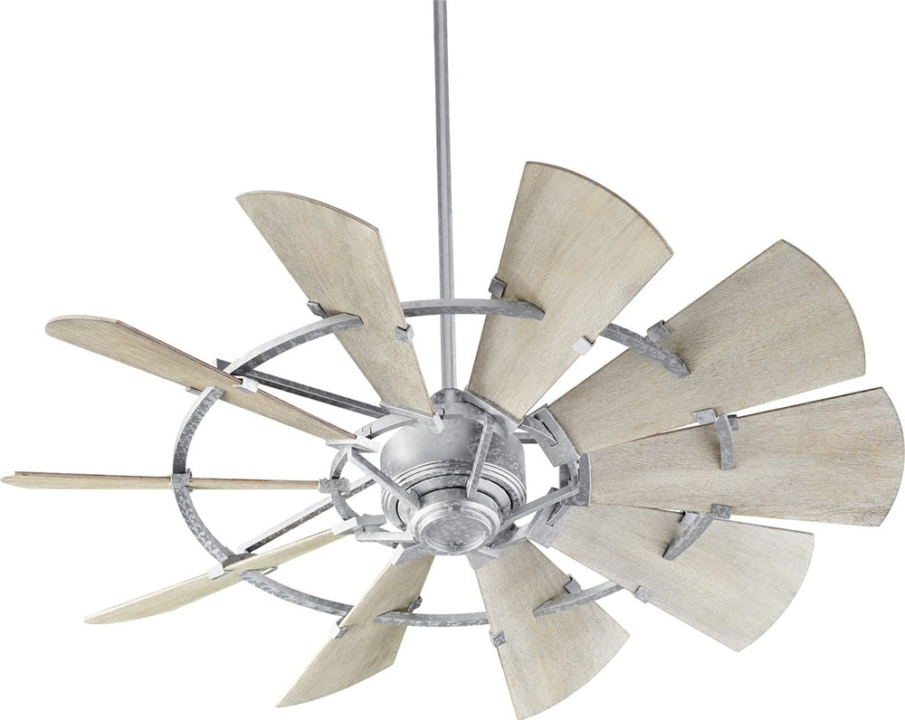 "52""W Windmill Ceiling Fan Galvanized"