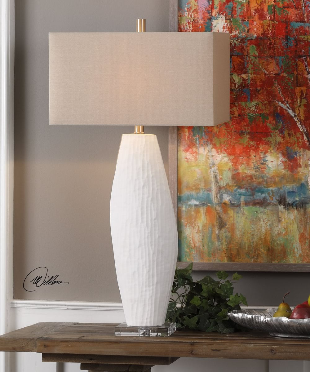 Vona Textured White Lamp
