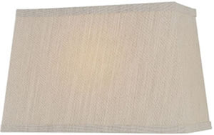 "14""W x 9""H Beige Rectangular Shade"