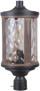 0-012070>Madera 1-Light Outdoor Post Light Textured Black/Whiskey Barrel