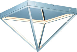 Pyramid LED Flush Mount Polished Chrome