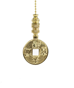 0-005949>Polished Brass Oriental Fan Pull