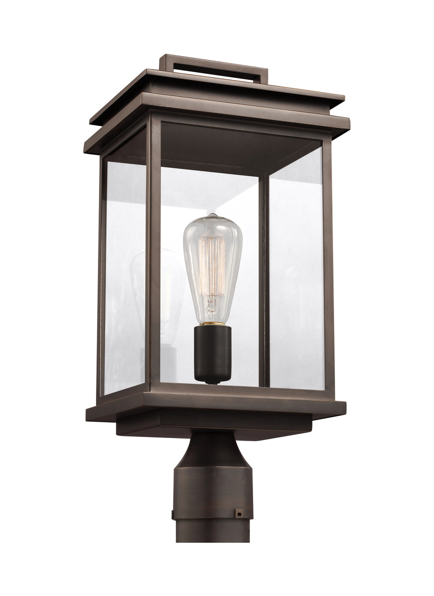 "17""H Glenview 1-Light Outdoor Post Lantern Antique Bronze"