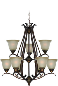 McKinney 9-Light Chandelier Burleson Bronze