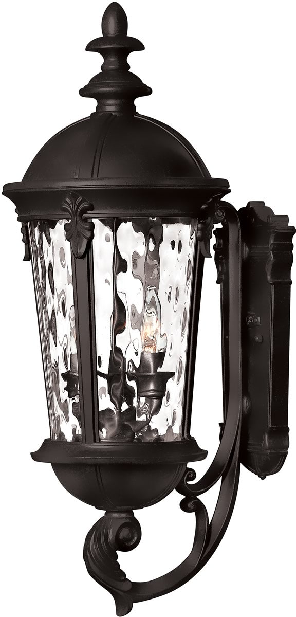 "26""H OPEN BOX  Windsor 3-Light Wall Outdoor Black"