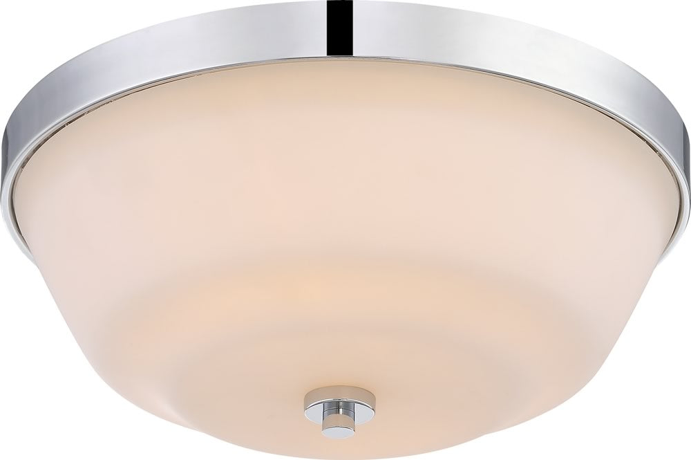 "14""W Willow 2-Light Close-to-Ceiling Polished Nickel"