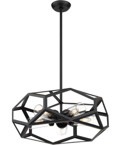 Zemi 5-Light Chandelier Black